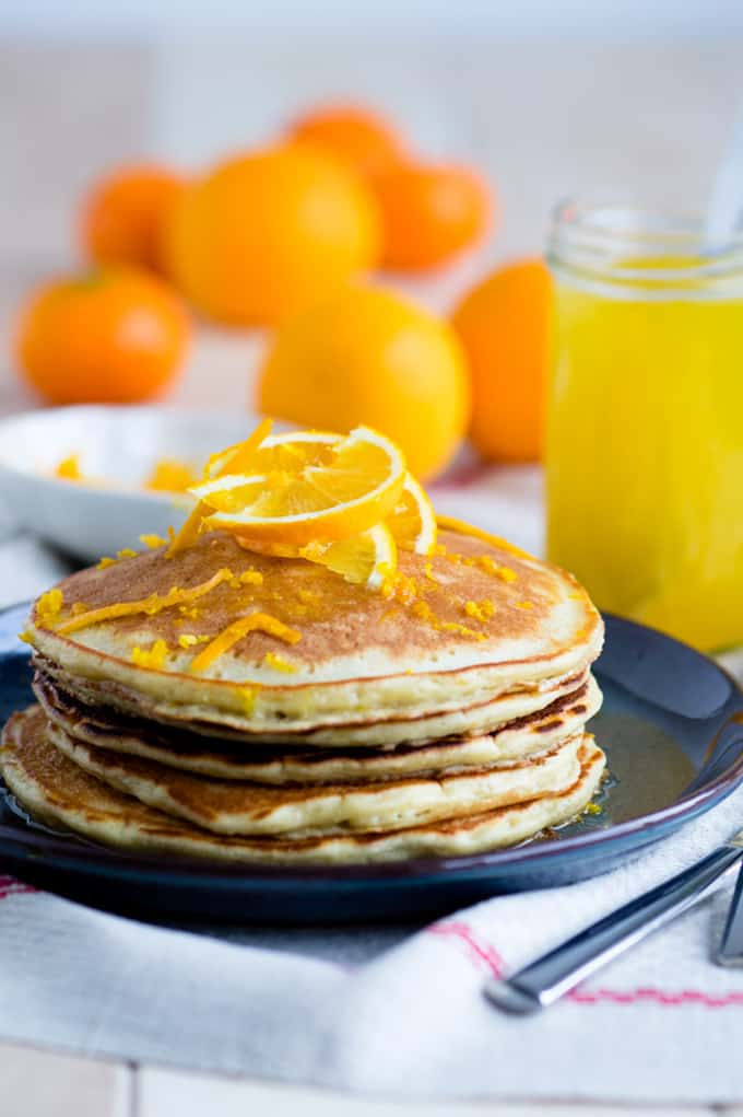 Orange and ricotta pancakes + 15 Farmers market recipes to make in January! Delicious, winter, (mostly) healthy recipes made with fresh, seasonal produce from your local farmers market or CSA bin. Eat local!