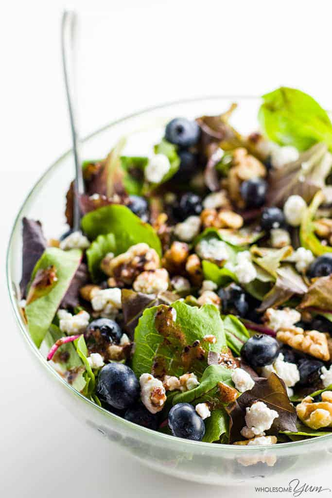 Spring salad with blueberries