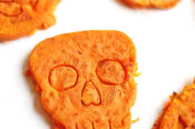 "Halloween sweet potato ""cookies"""