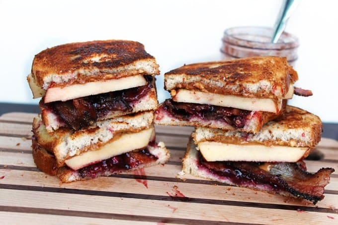Loaded grilled peanut butter and jelly sandwich