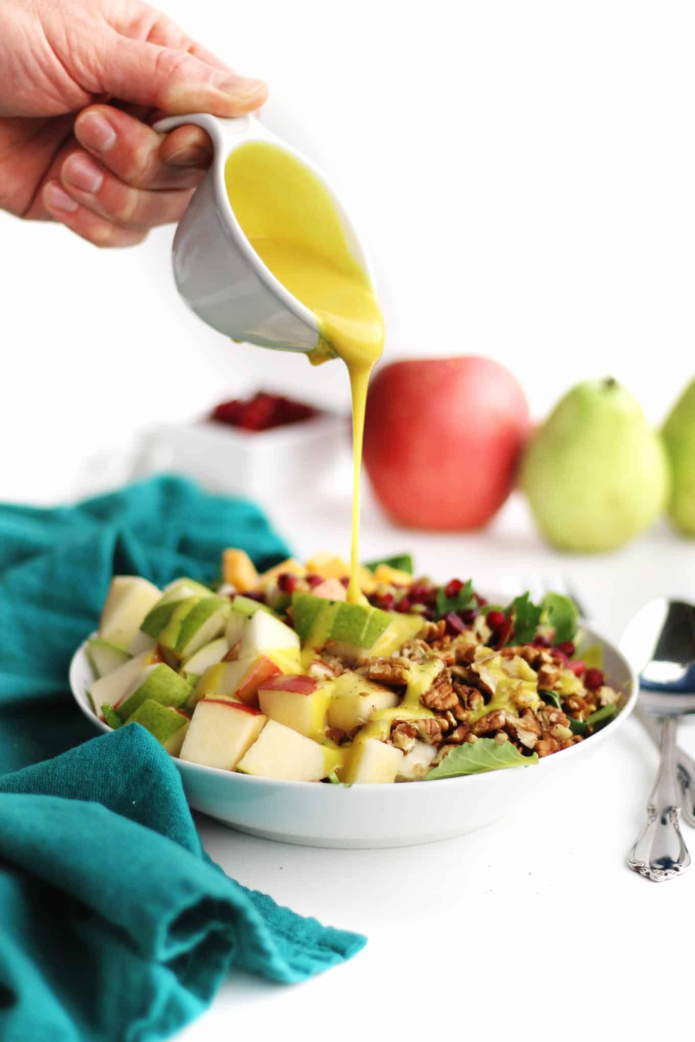 apple spinach salad with honey mustard dressing