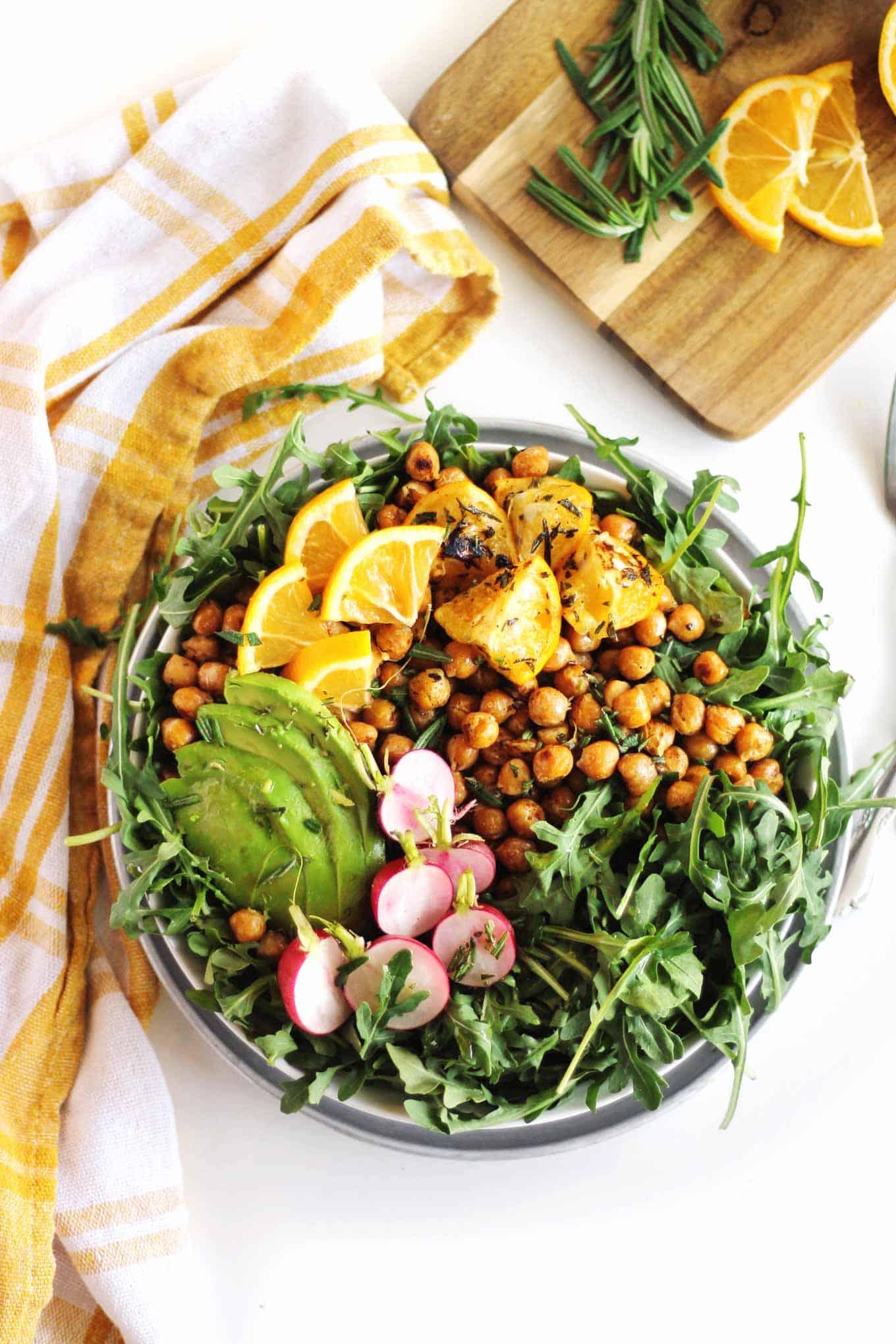 chickpea arugula salad recipe
