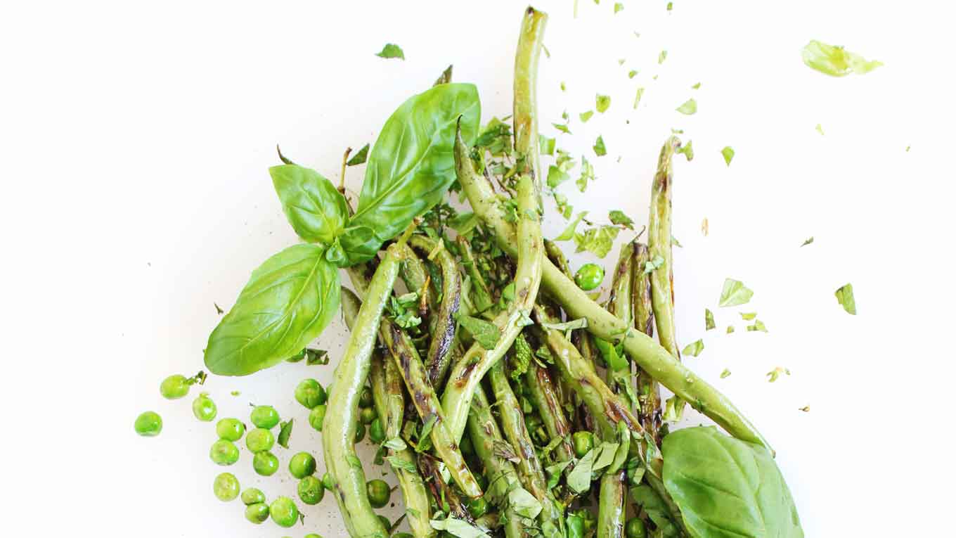sauteed green beans and peas