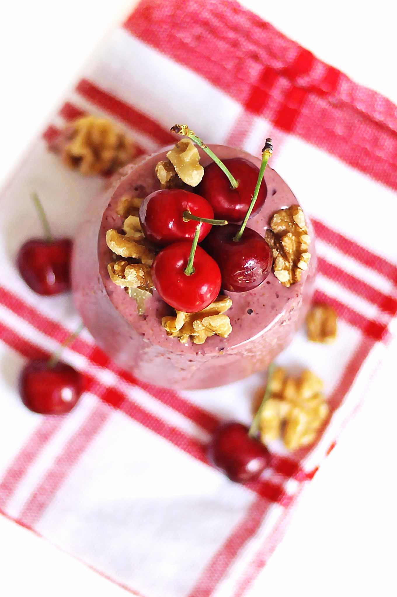 cherry yogurt smoothie