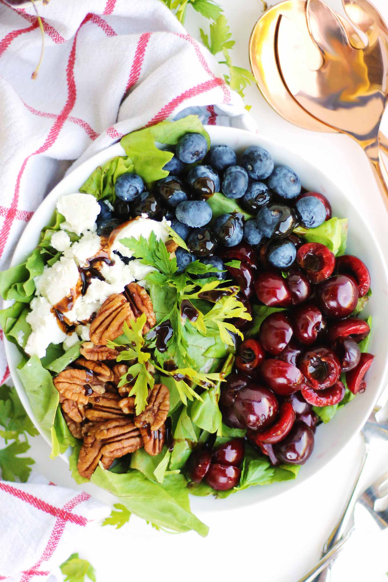 Cherry blueberry salad