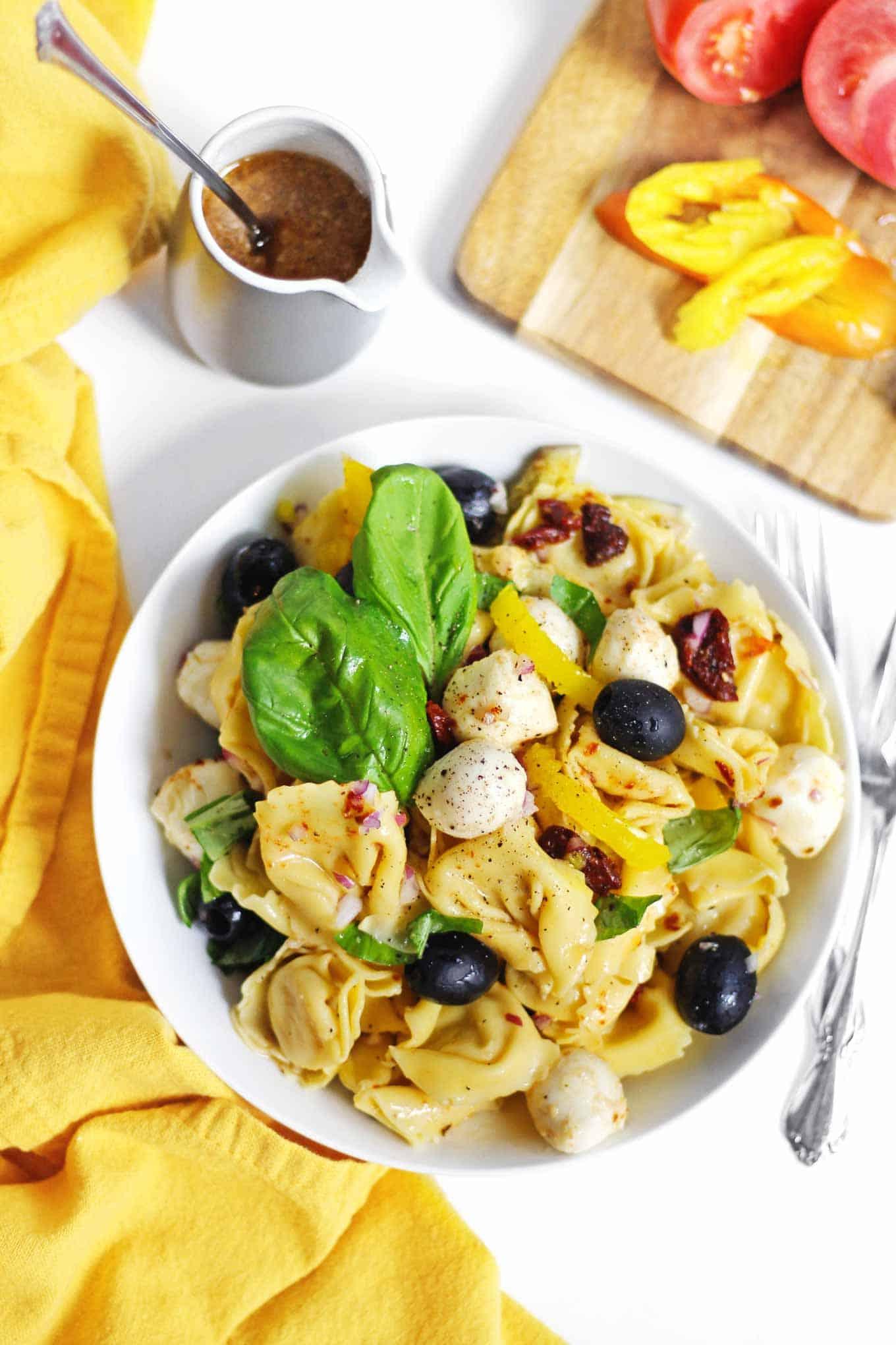 Italian tortellini pasta salad