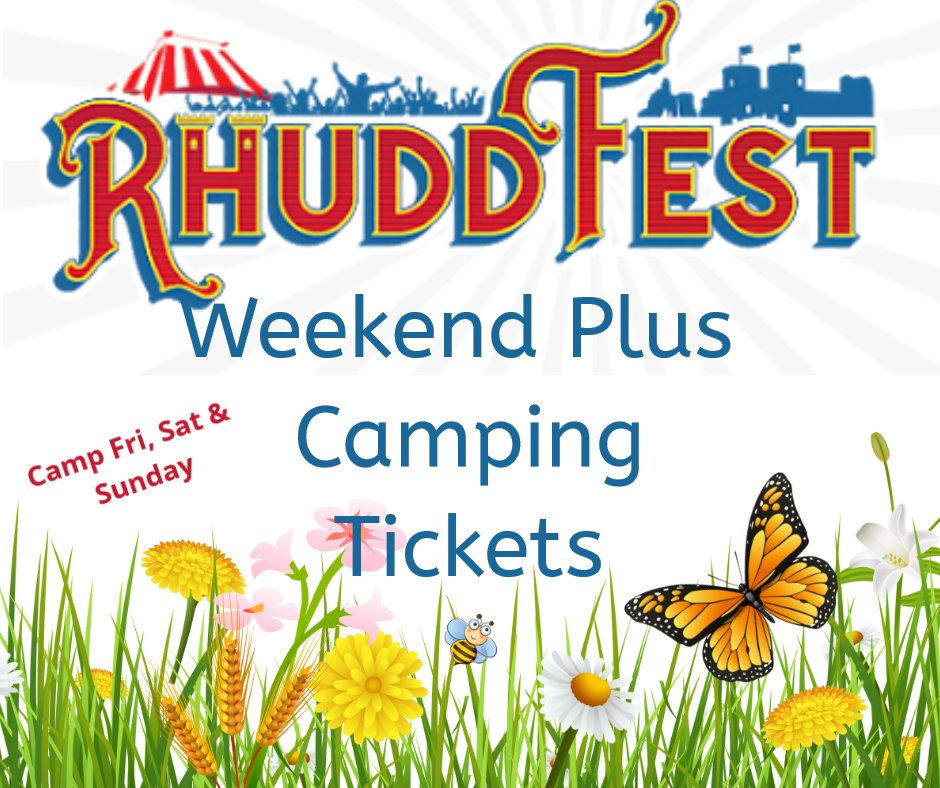 Weekend plus camping tickets
