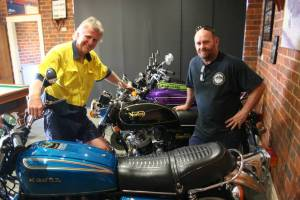 Stuart Ingold and Mark Fitzgerald are organising and sponsoring Bikes on Broadway to feature some of the districts best looking bikes. Picture: Declan Rurenga