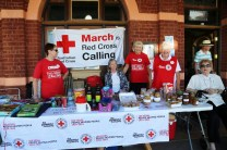 Junee Red Cross Street Stall out the front of the Broadway Museum