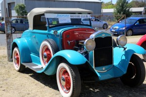 Vintage Ford on display at the Junee Gas Works