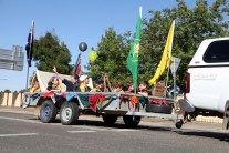 1st Junee Cub Scouts troop bring the camp to the Parade