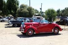 Vintage vehicle display at the Junee Gas Works