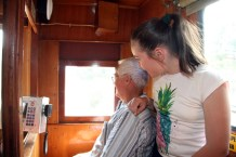 Regardless of age, everyone enjoys the view from a train!