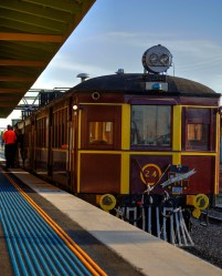 Heritage Tin Hares Rail Motor at Junee Railway Station