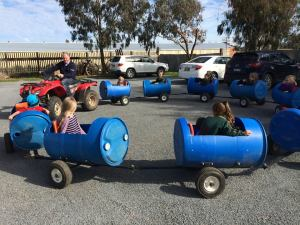 Barrel Train Rides at the Junee Licorice and Chocolate Factory