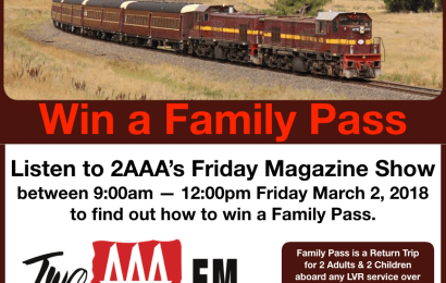 Winner of Family Pass for Heritage Train Ride Announced