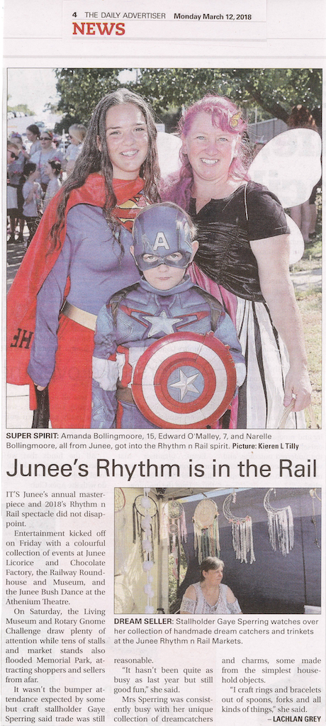Junee's Rhythm is in the Rail