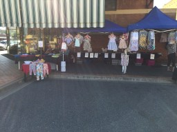 Market Stalls in Railway Square on the Sunday