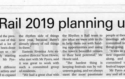 Rhythm n Rail 2019 planning underway