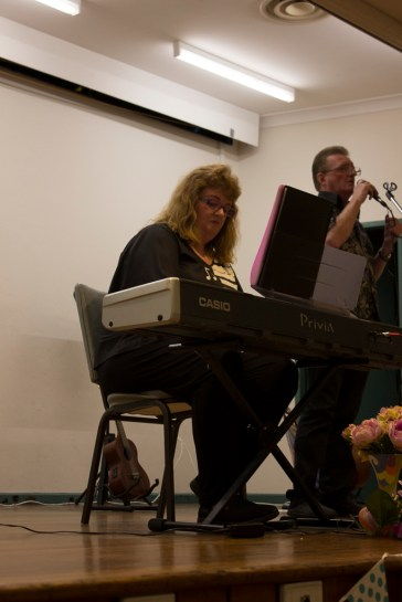 Niki Rosenberg performing at the Variety Show