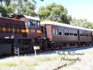 Lachlan Valley Railway's 4716 Heritage Diesel Locomotive with carriages