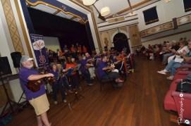 Tuggeranong Ukulele Group performing in the Athenium Theatre, Junee [2015 Rhythm n Rail]