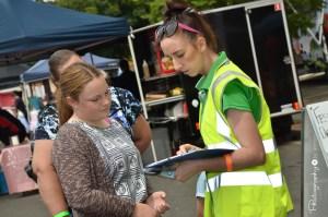 Volunteer hard at work [2015 Rhythm n Rail]