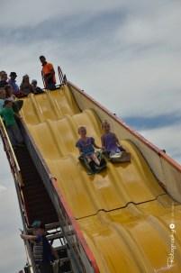 Giant Slide in Kid's Zone on Broadway [2015 Rhythm n Rail]