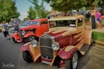 Classic Cars on Display in Peel Street [2016 Rhythm n Rail]