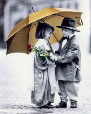 Bimbi a San Valentino. Foto tratta da lacquarellodimina.blogspot.com.