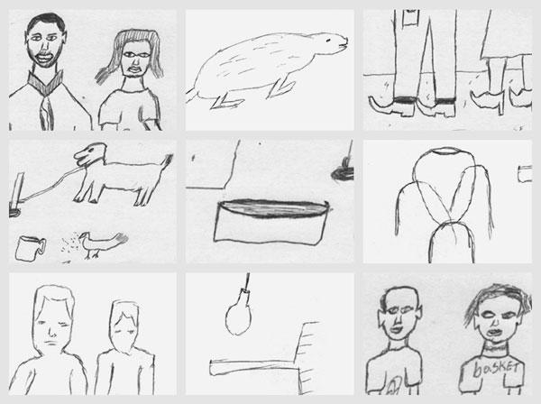 """Dettagli del """"Disegno della famiglia""""  nei due ragazzi ruandesi"""