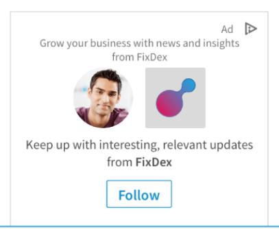 LinkedIn Dynamic Ad Sample