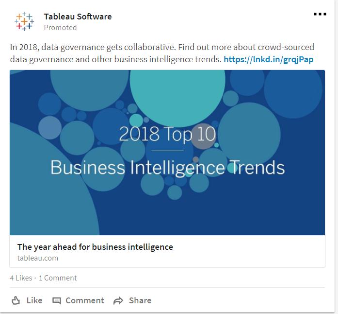LinkedIn Sponsored Content Sample