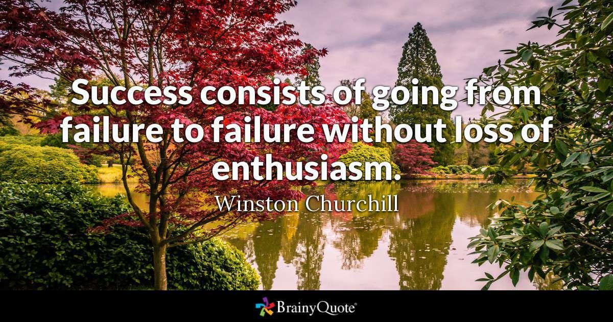 Winston Churchill Success Quote