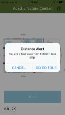 lets you know how far you are from selected spot