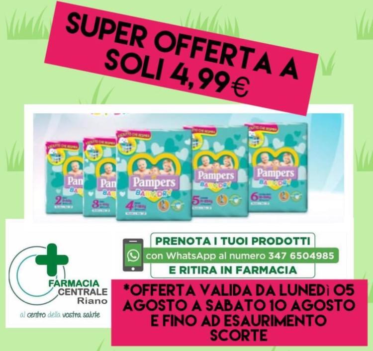 SUPER OFFERTA A SOLI €4,99 VALIDA FINO A SABATO 10 AGOSTO