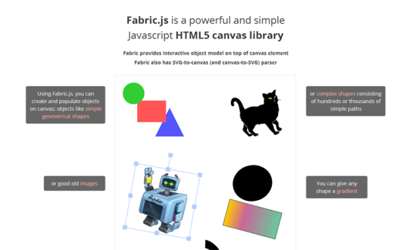 fabric.js based javascript graphic library