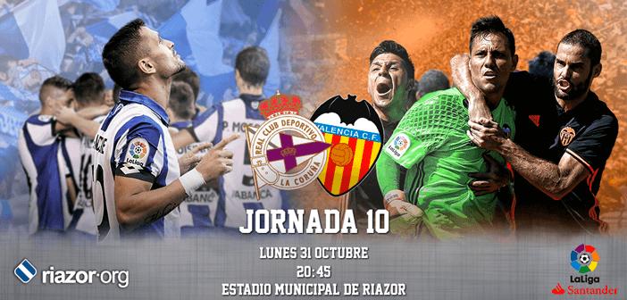 Jornada 10 Liga Santander Deportivo de La Coruña Valencia CF