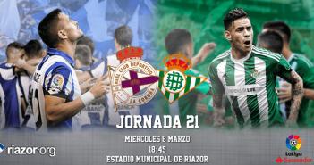 Jornada 21 Liga Santander Deportivo de La Coruña Real Betis