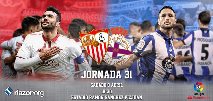 Jornada 31 Liga Santander Sevilla CF Deportivo de La Coruña