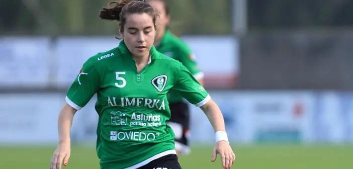 Iris Arnaiz en su etapa como futbolista del Oviedo Moderno