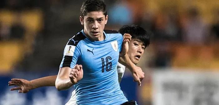 Fede Valverde con la selección de Uruguay en el Mundial Sub-20