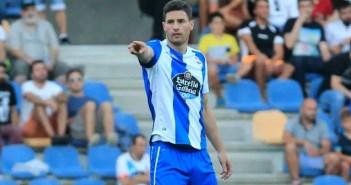 Fabian Schär en un encuentro entre Deportivo y Pontevedra