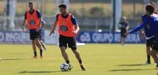 Borja Valle entrenamiento Deportivo Coruña 22 de agosto 2017