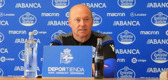 Pepe Mel en sala de prensa del Deportivo