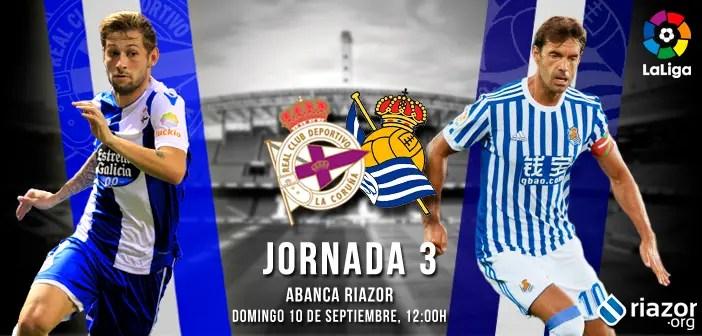 Previa: Deportivo - Real Sociedad jornada 3 Liga Santander