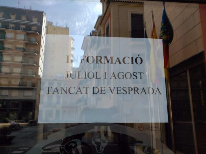 L'alcaldessa d'Algemesí atendrà als ciutadans sols 4 hores a la setmana