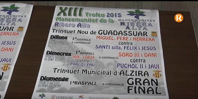 La Mancomunitat de la Ribera Alta presenta una nova edició del trofeu d'Escala i Corda