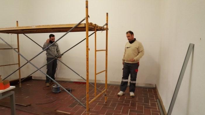 Comencen les obres per a millorar l'acústica en les tres aules utilitzades per la Societat Musical d'Alzira en la Casa de la Cultura