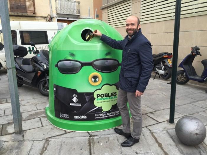 Cullera es repta per a reciclar 73.000 quilos de vidre